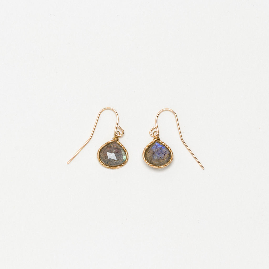 Lina - Labradorite Drop Earrings