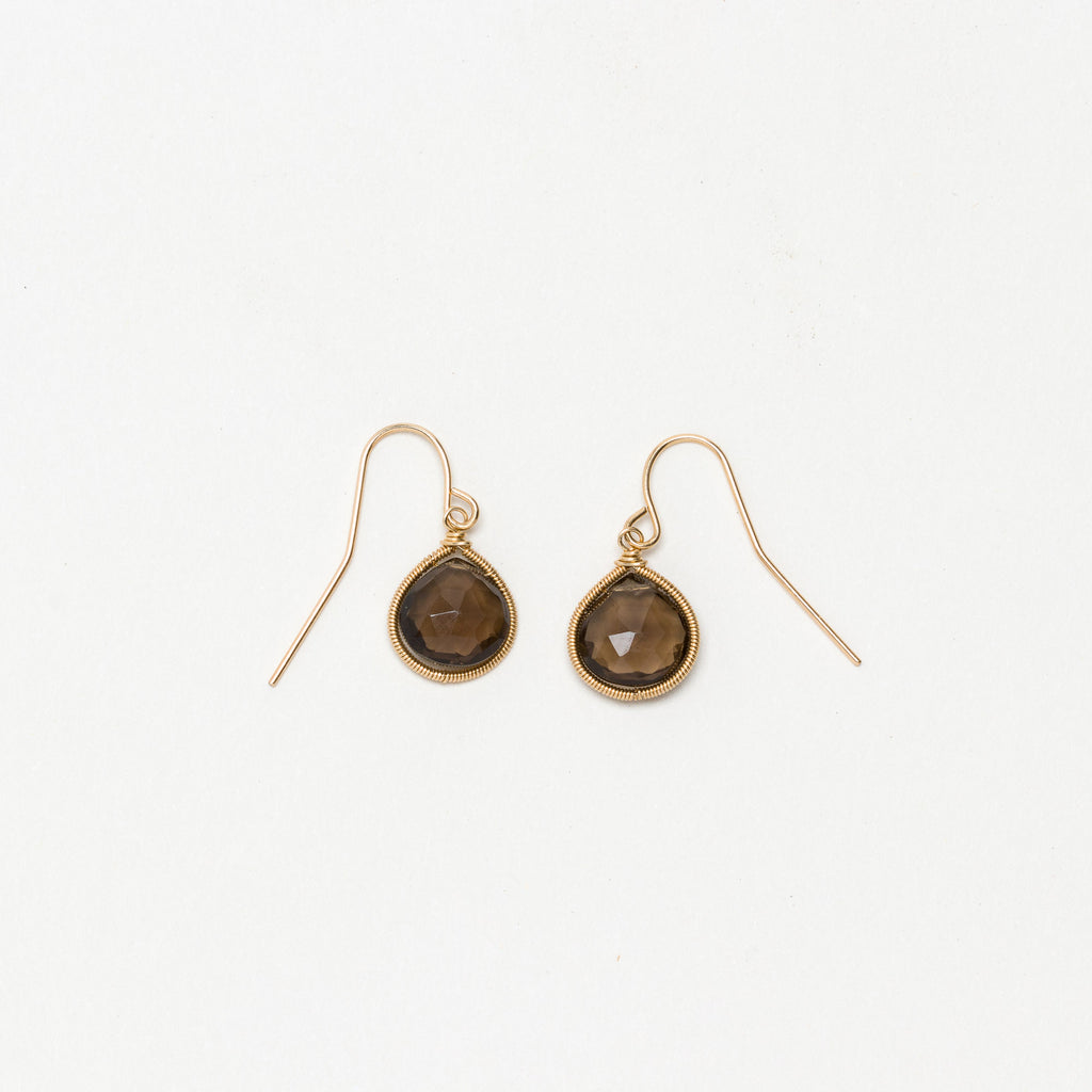 Lina - Smoky Quartz Drop Earrings