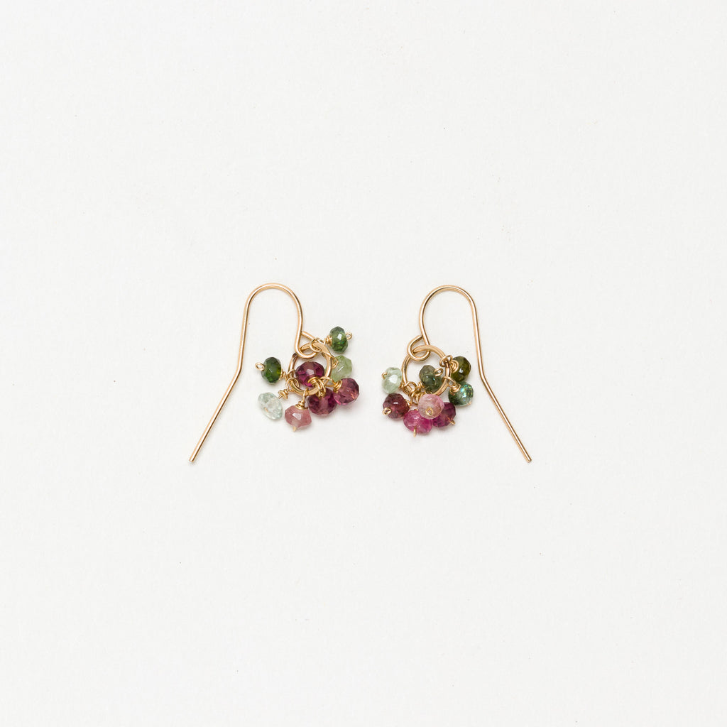 Lina - Tourmaline Cluster Earrings