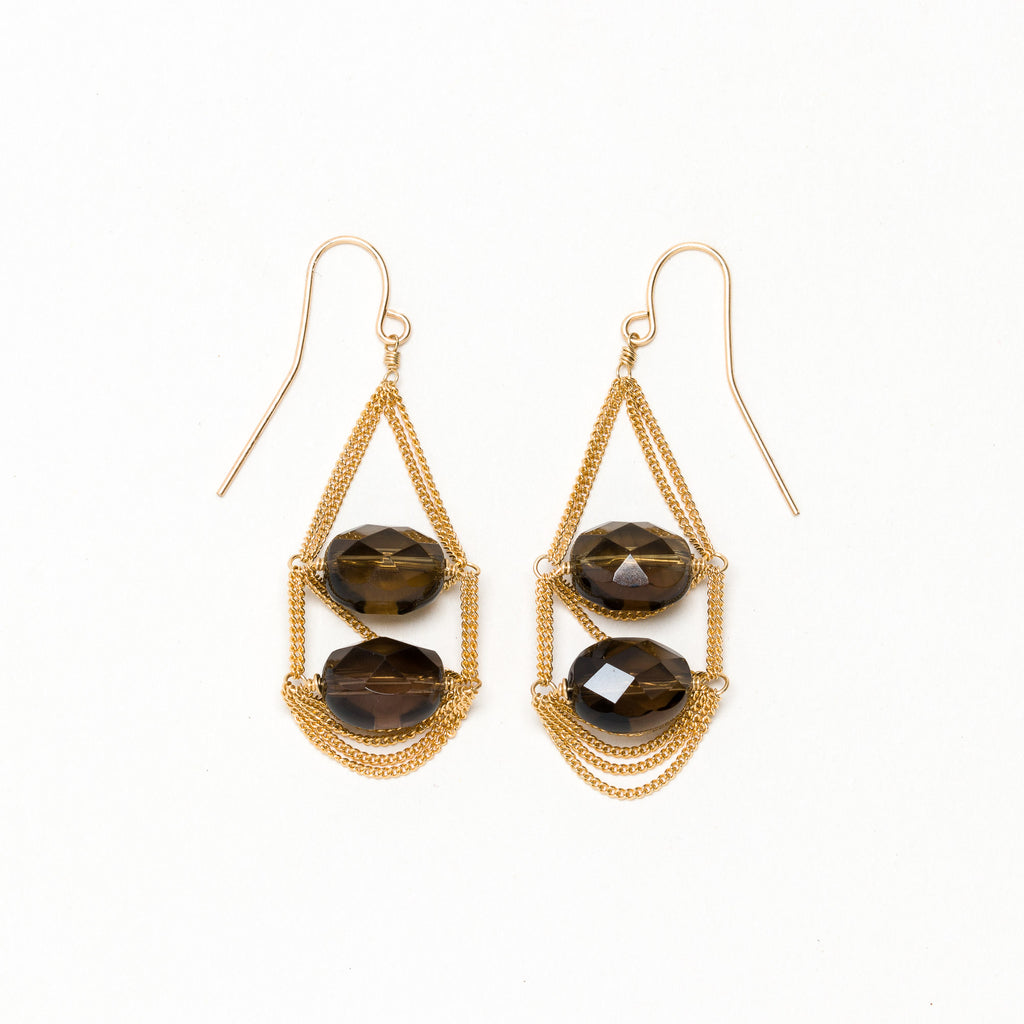 Lina - Smoky Quartz Earrings