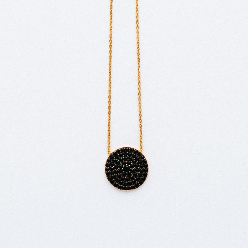 NSC - Large Pave Round Necklace