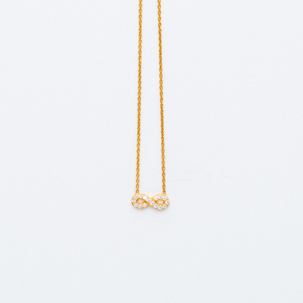 NSC - Infinity with CZ Necklace in Gold Plated