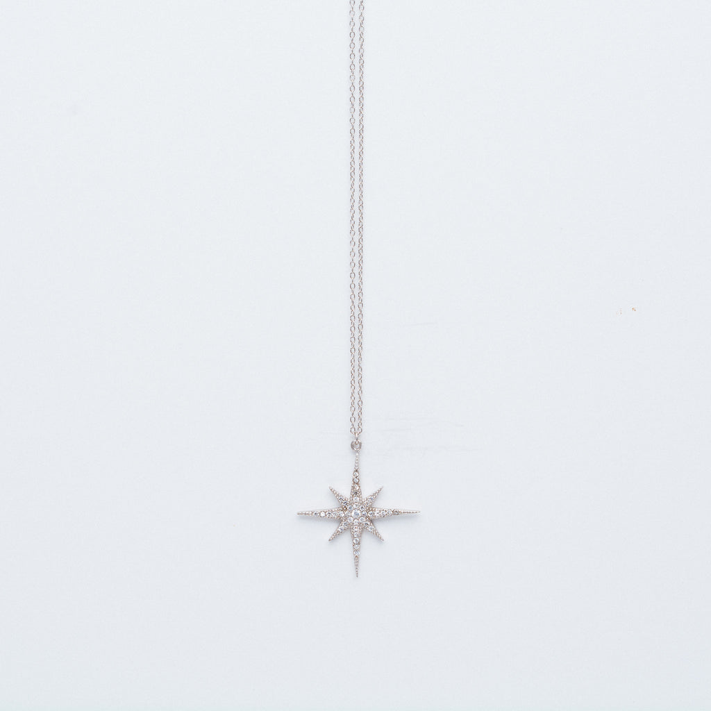 NSC - Large Pave Star Necklace