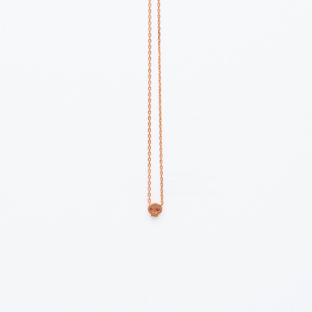 NSC - Tiny Skull Necklace in Gold Plated
