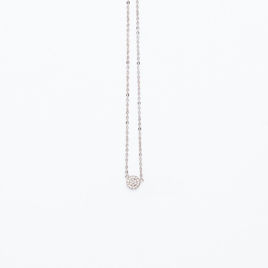 NSC - Mini Pave Round Necklace