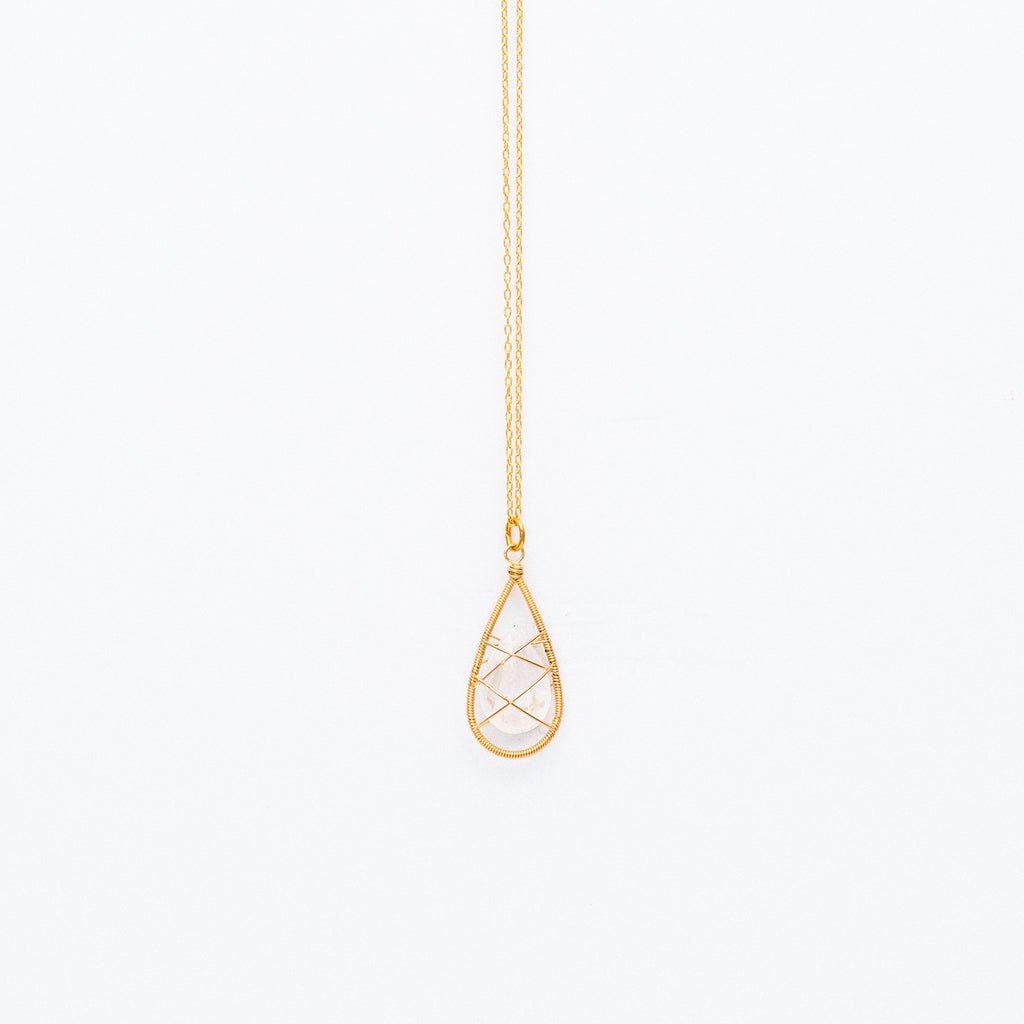Lina - Wrapped Moonstone Necklace