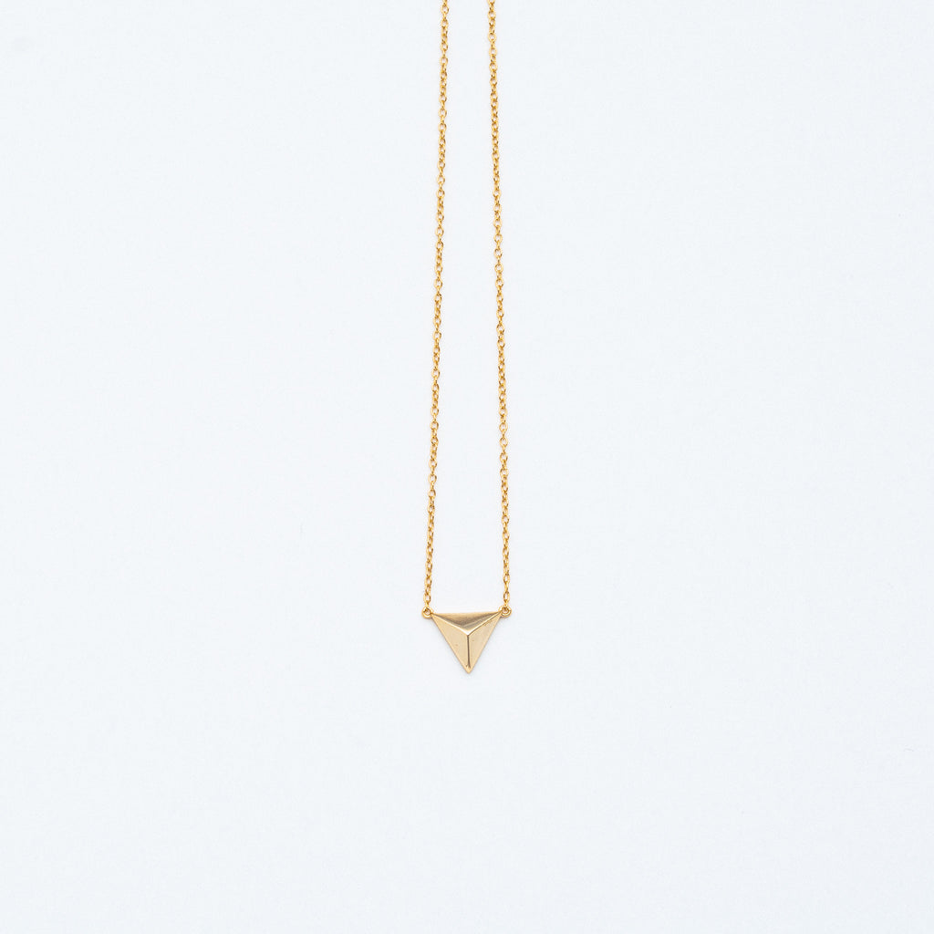 NSC - Pyramid Necklace in Gold Plated