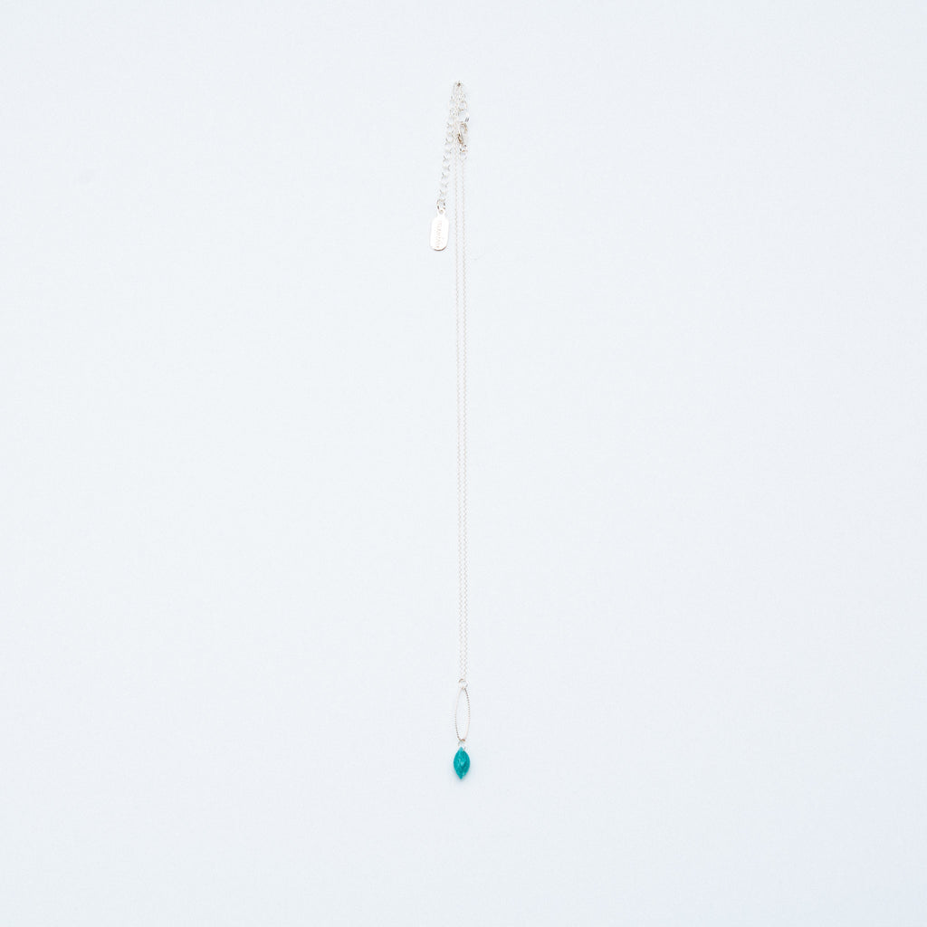 Mashka - Amazonite drop in sterling silver