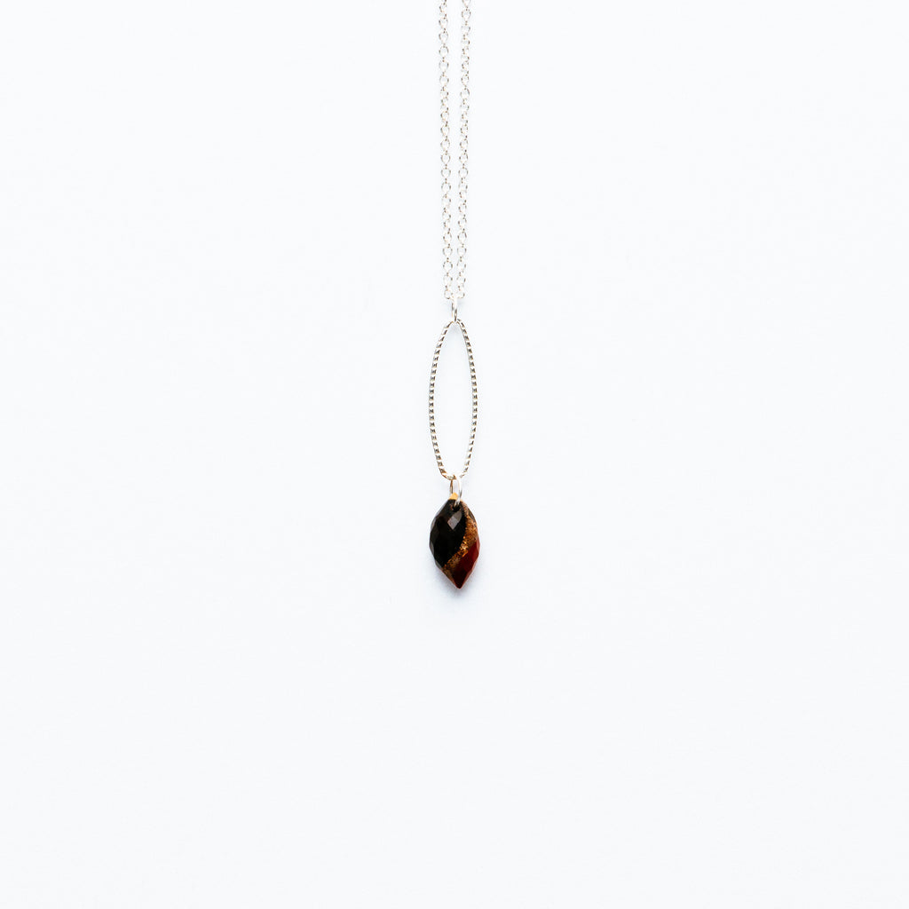 Mashka - Bloodstone drop in sterling silver
