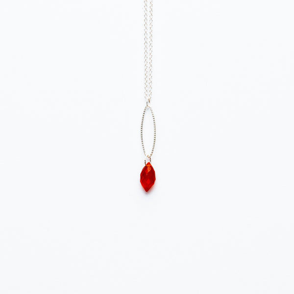 Mashka - Carnelian drop in sterling silver