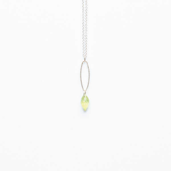 Mashka - Prehnite drop in sterling silver