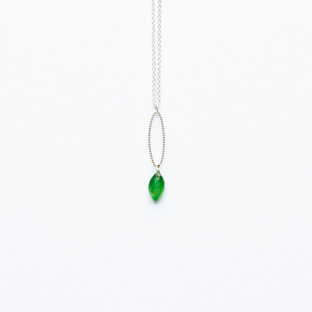 Mashka - Serpentine drop in sterling silver