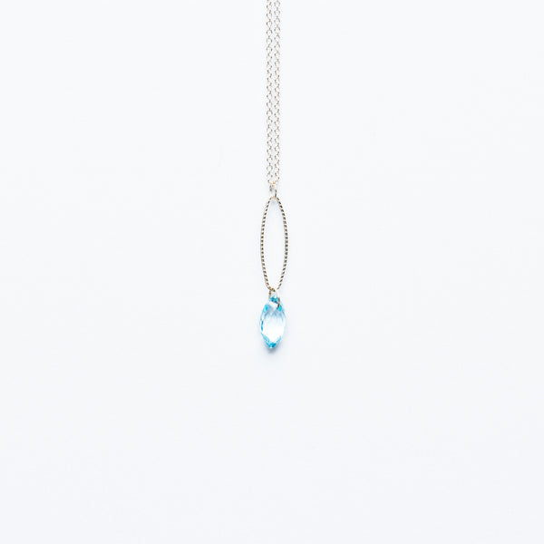 Mashka - Blue Topaz drop in sterling silver