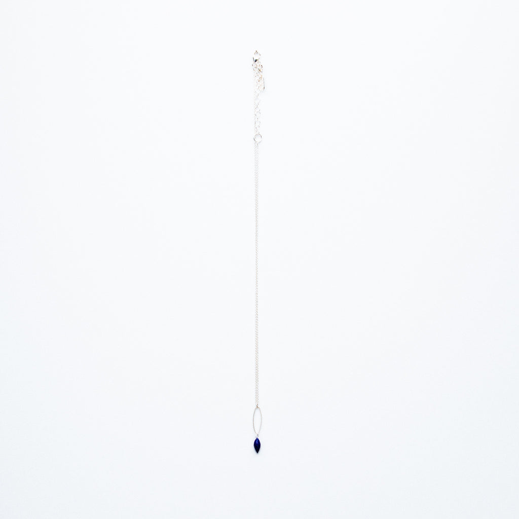 Mashka - Lapis drop in sterling silver