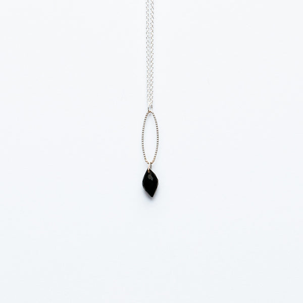 Mashka - Black Spinel drop in sterling silver