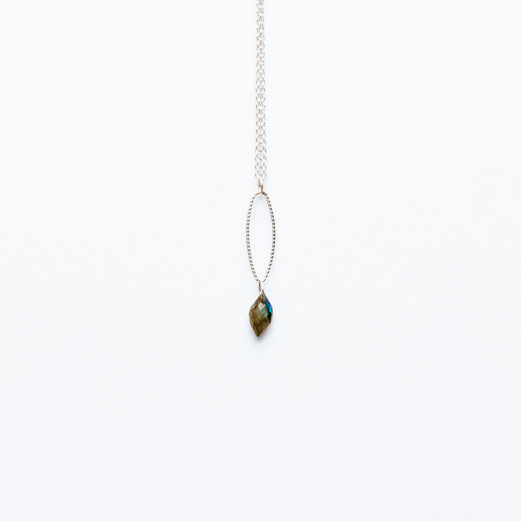 Mashka - Labradorite drop in sterling silver