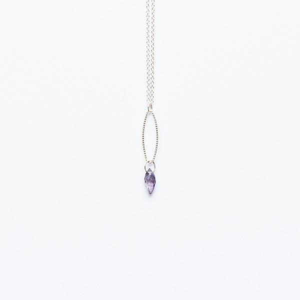 Mashka - Iolite drop in sterling silver