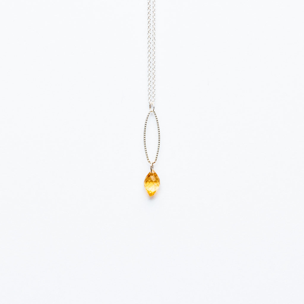 Mashka - Citrine drop in sterling silver