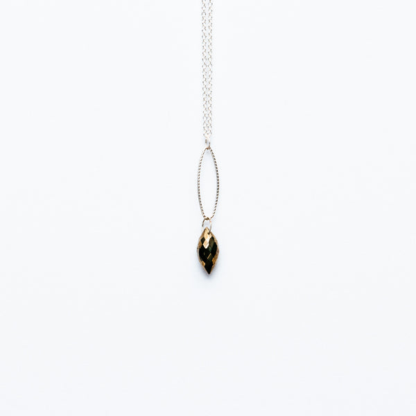Mashka - Pyrite drop in sterling silver