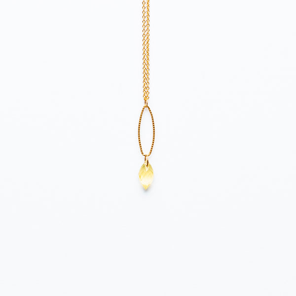 Mashka - Lemon Quartz drop in gold vemeil