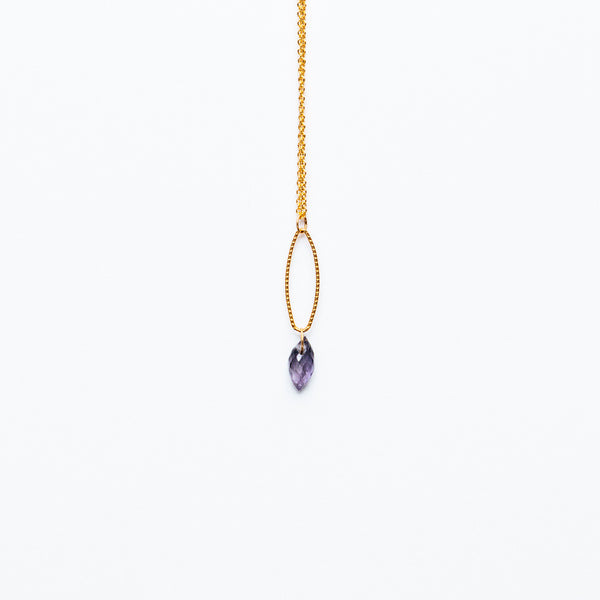 Mashka - Iolite drop in gold vermeil