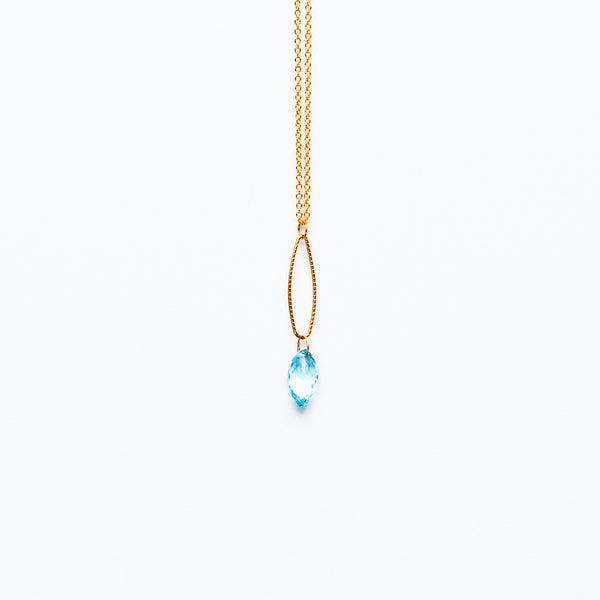 Mashka - Blue Topaz drop in gold vermeil