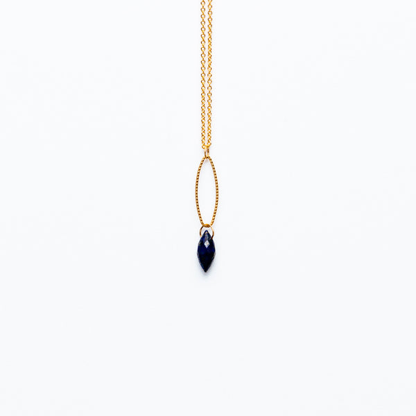 Mashka - Lapis drop in gold vermeil