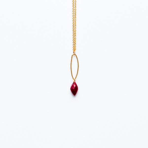 Mashka - Ruby drop in gold vermeil