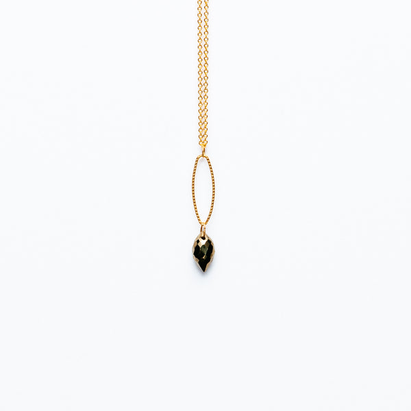 Mashka - Pyrite drop in gold vermeil