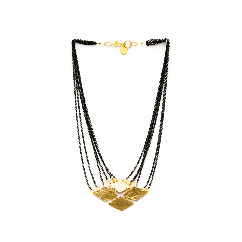 Cecilia Gonzales - Short Diamond Black Necklace