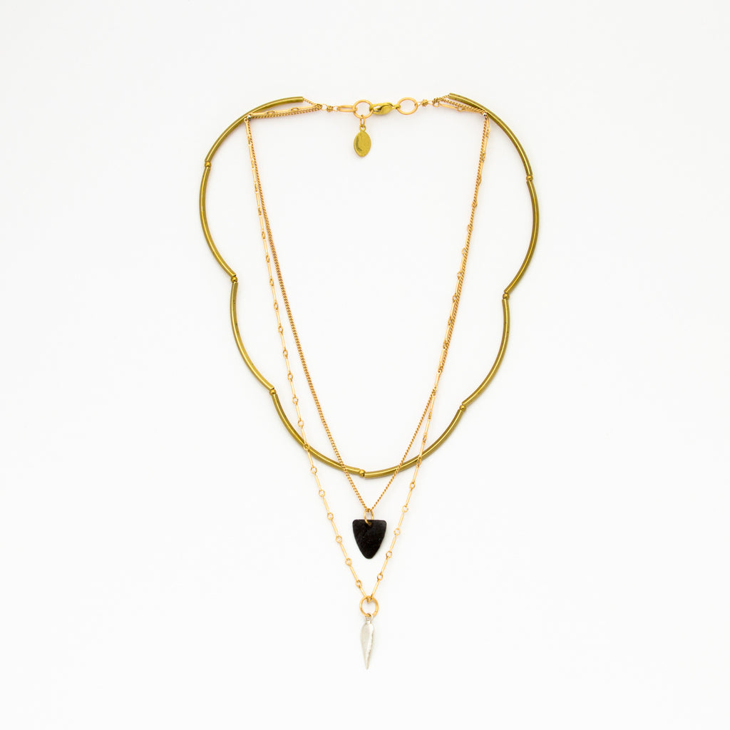 Cecilia Gonzales - Cloister Gold Necklace