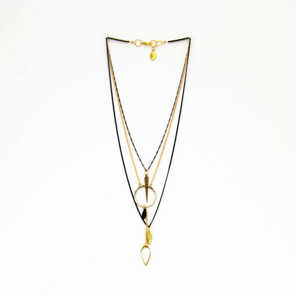 Cecilia Gonzales - Leaf Mix Necklace - Norbu