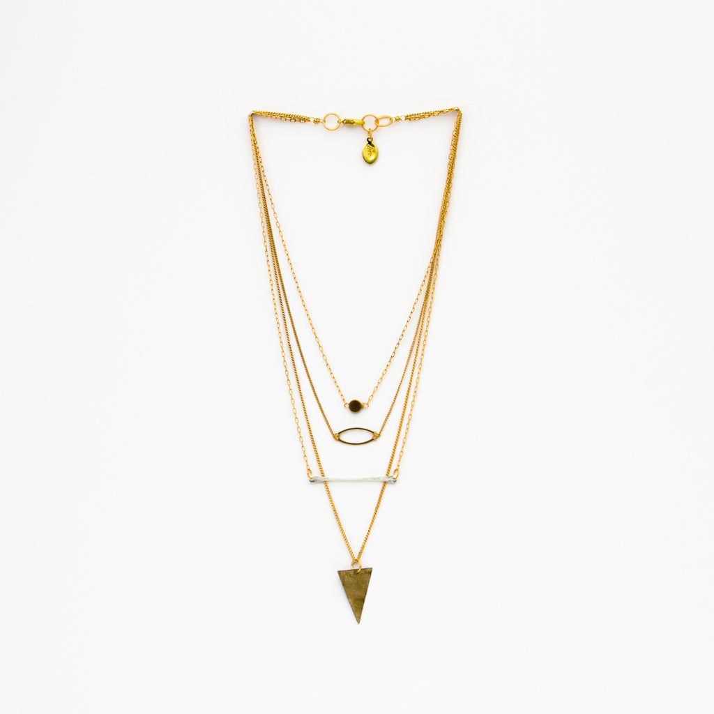 Cecilia Gonzales - Straight Path Gold Necklace