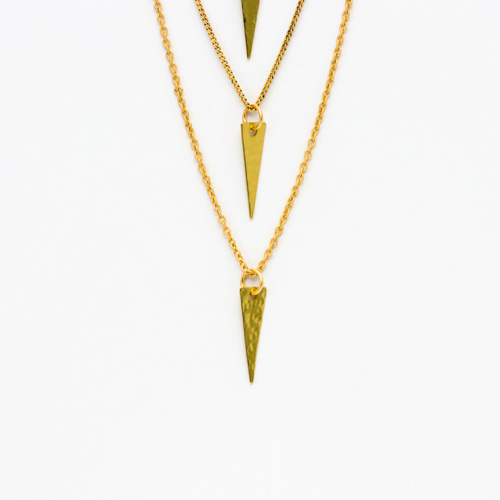 Cecilia Gonzales - Cutler Gold Necklace