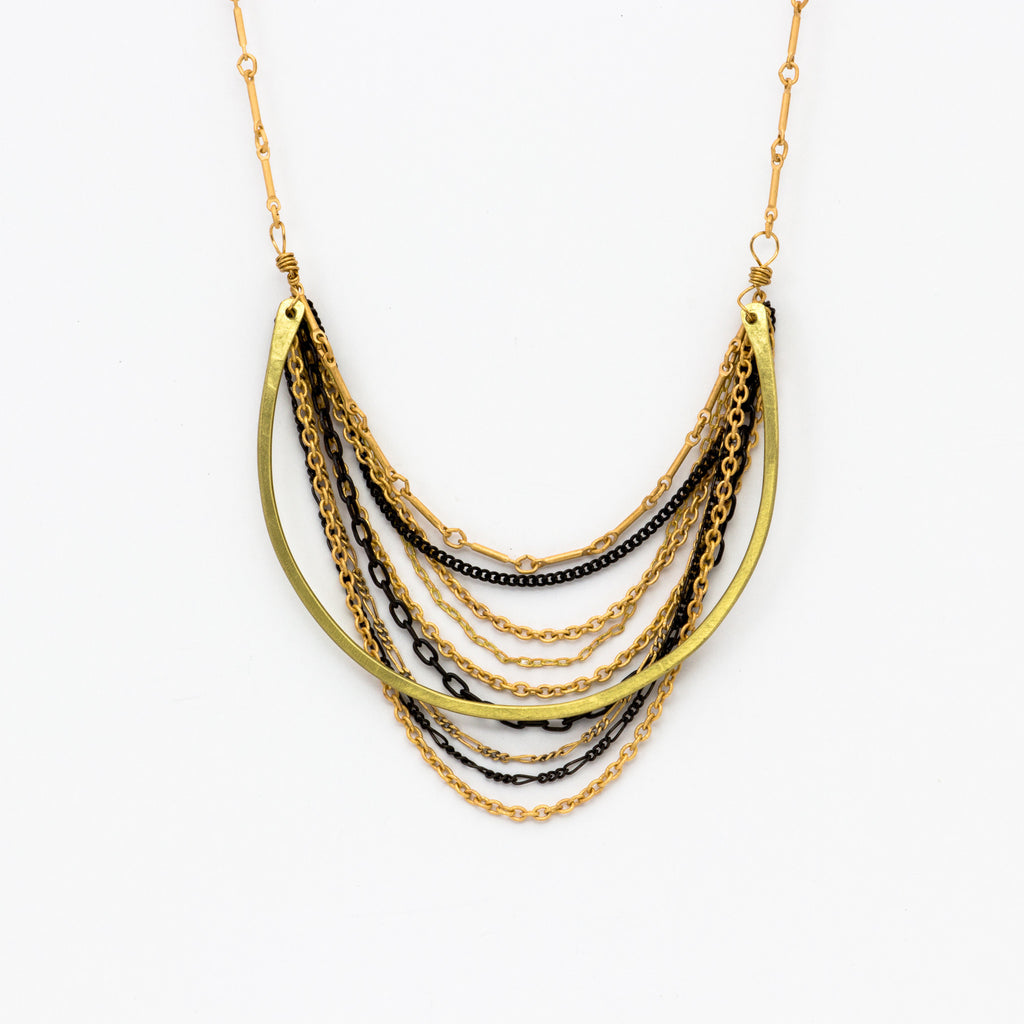 Cecilia Gonzales - Half Moon Gold Necklace