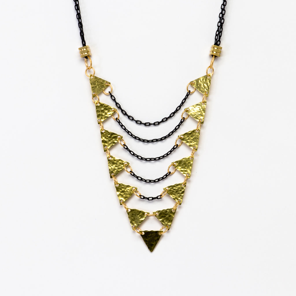 Cecilia Gonzales - Long Multi Triangle Mix Necklace - Norbu