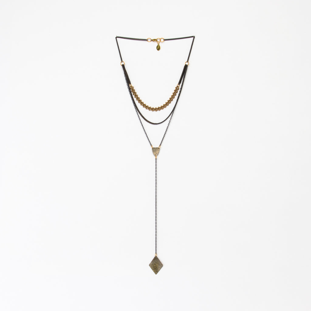 Cecilia Gonzales - Diamond Lariat Antique Necklace