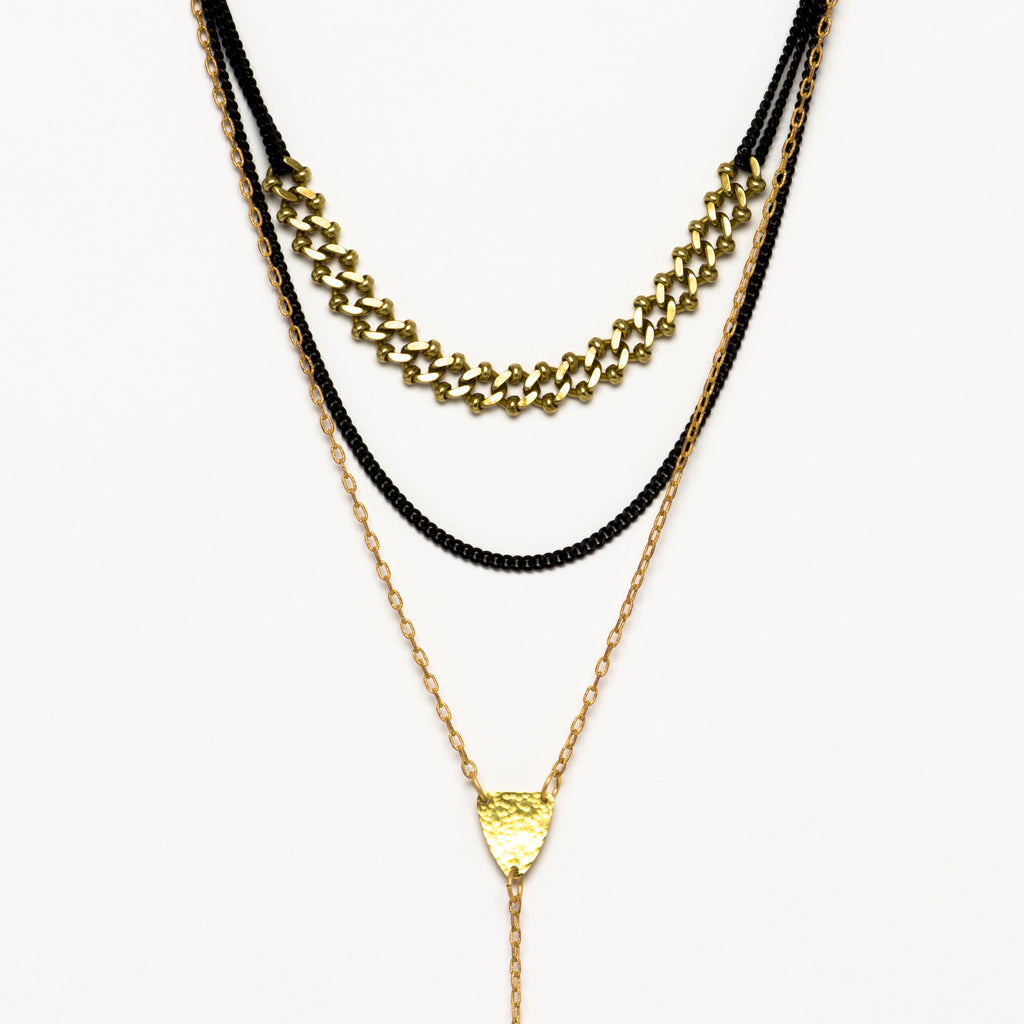 Cecilia Gonzales - Diamond Lariat Mix Necklace