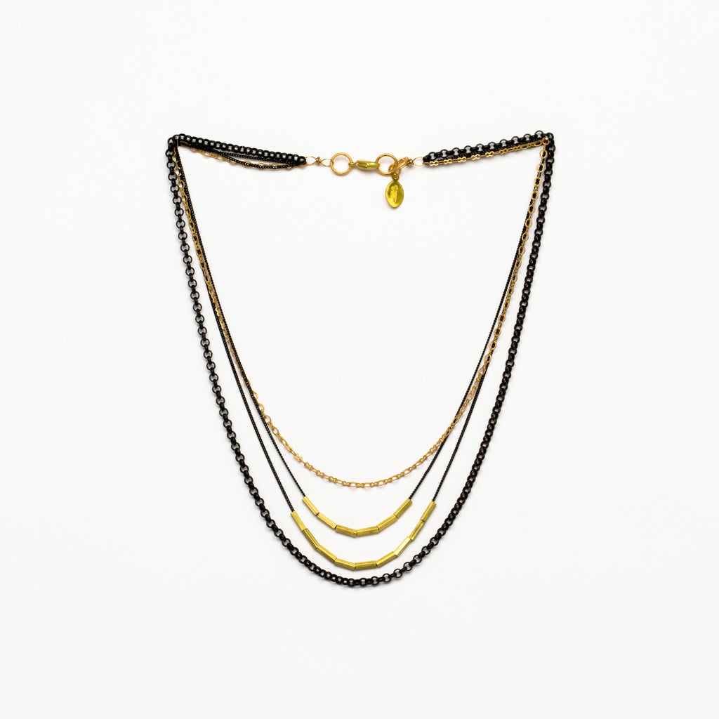 Cecilia Gonzales - Rosetta Black Necklace