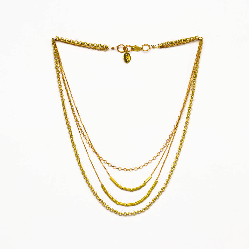 Cecilia Gonzales - Rosetta Gold Necklace