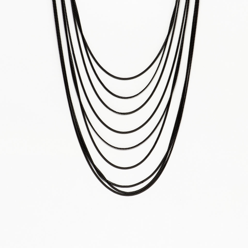 Cecilia Gonzales - Maya Black Necklace