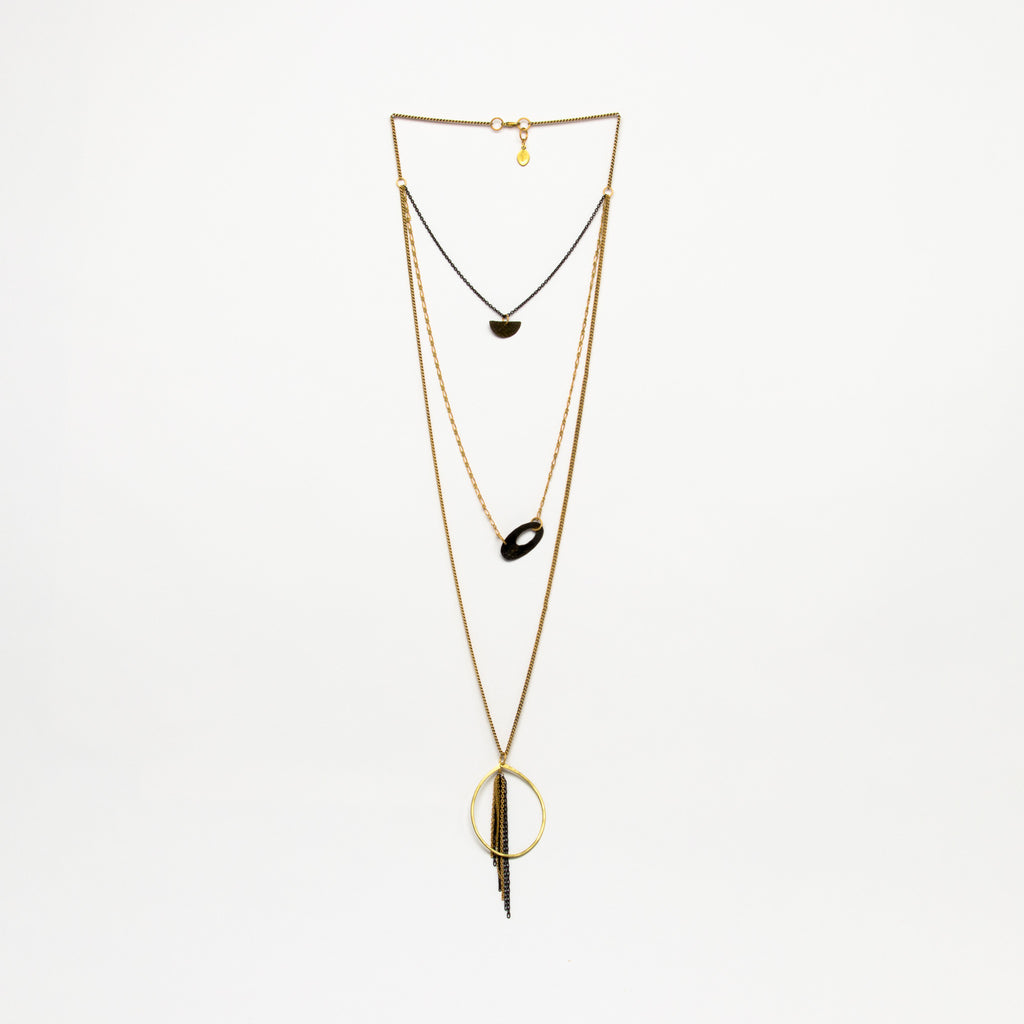 Cecilia Gonzales - Teardrop Gold Necklace