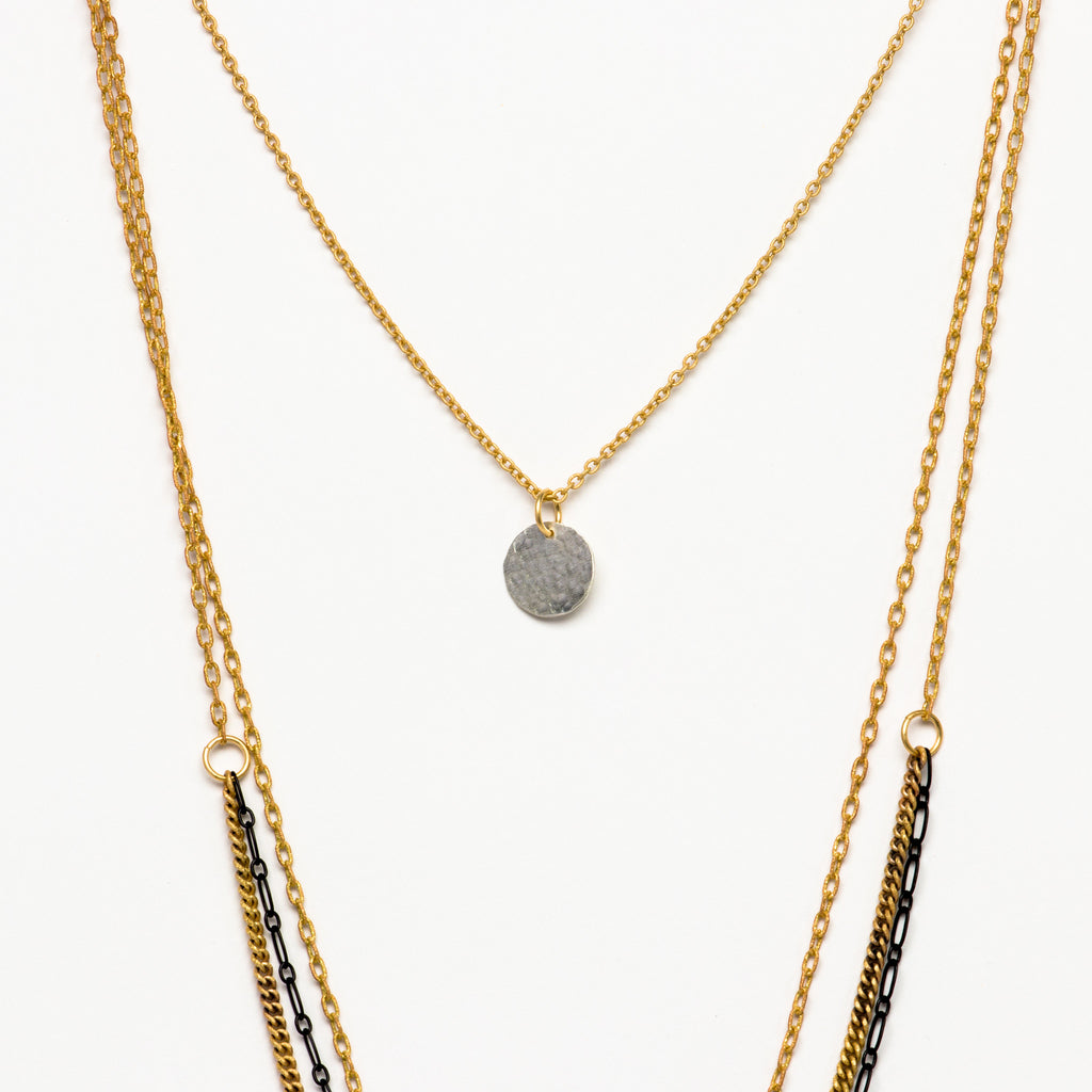 Cecilia Gonzales - Bolt Gold Necklace