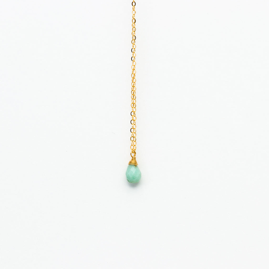 Lhamo - Mini Amazonite Teardrop Necklace