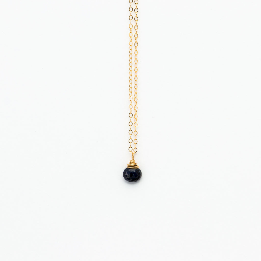 Lhamo - Mini Lapis Teardrop Necklace