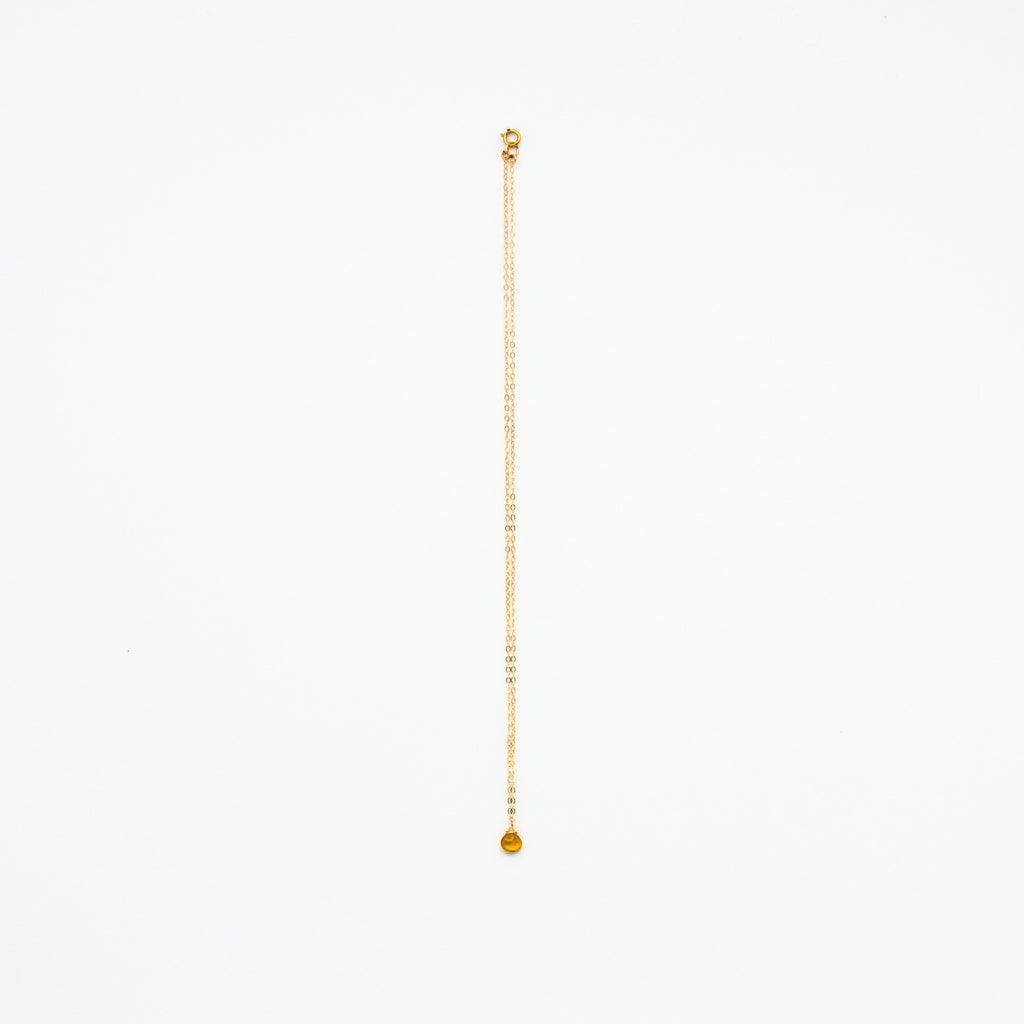Lhamo - Mini Citrine Teardrop Necklace