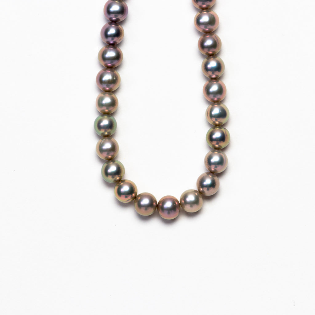 NSC - Dyed Grey Fresh Water Pearl Necklace
