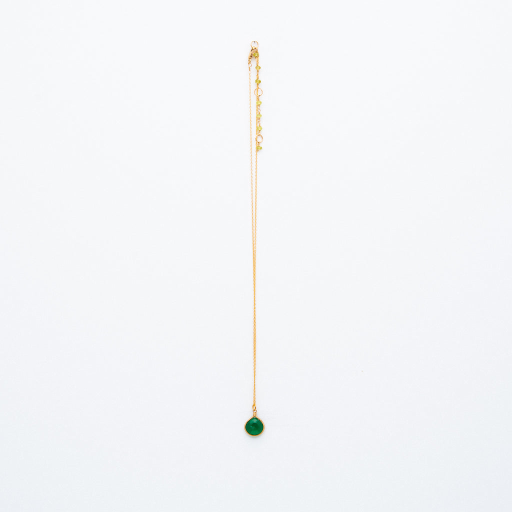 Lina - Green Onyx Drop Necklace