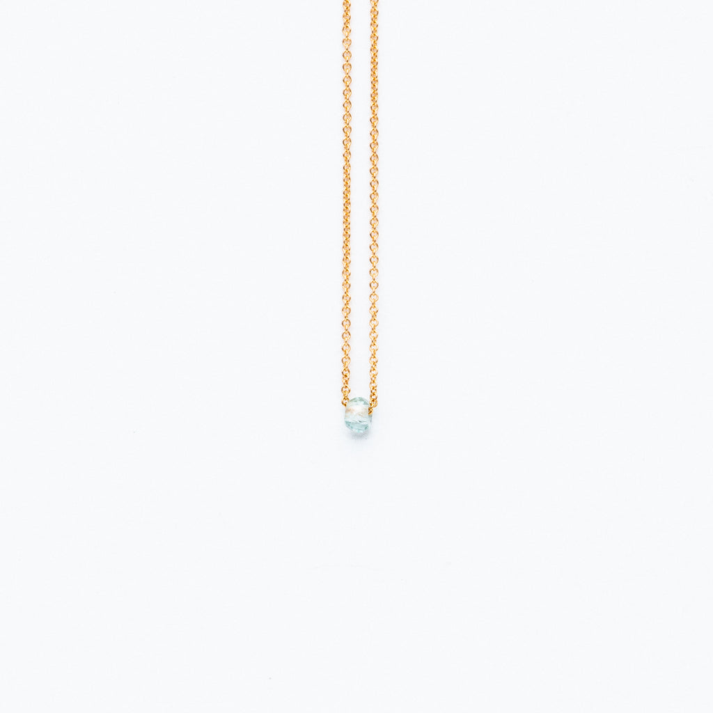 Carla Caruso - Dainty necklace with aquamarine