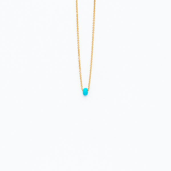 Carla Caruso - Dainty necklace with turquoise